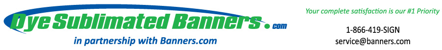 Dye Sublimated Banners - In partnership with Banners.com
